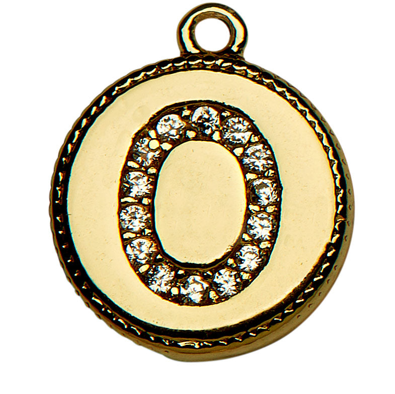 Gold CZ Initial O