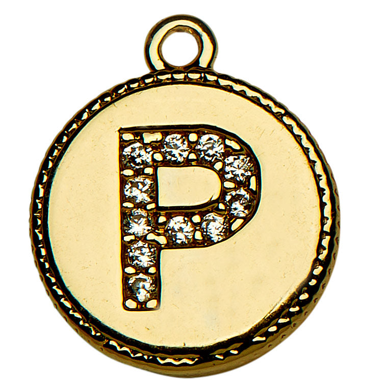 Gold CZ Initial P
