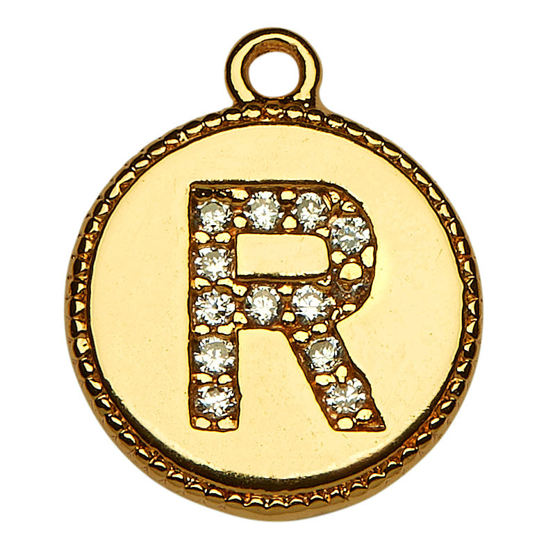 Gold CZ Initial R