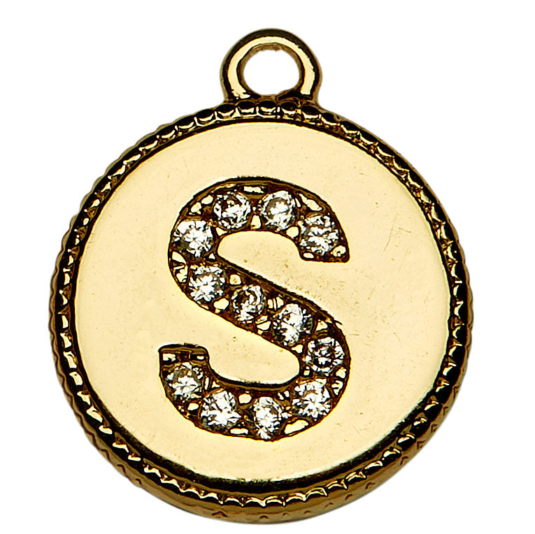 Gold CZ Initial S