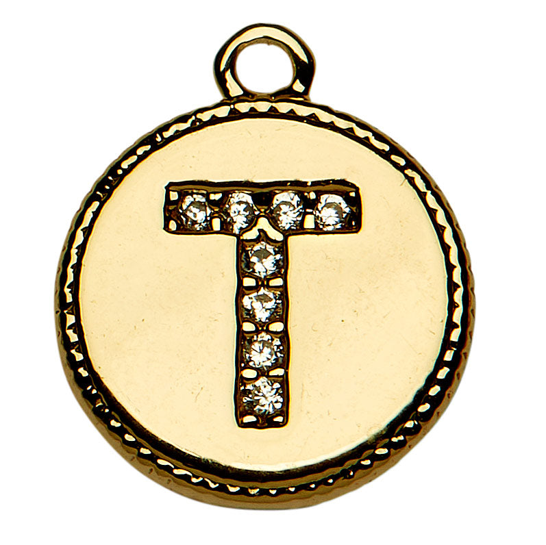 Gold CZ Initial T