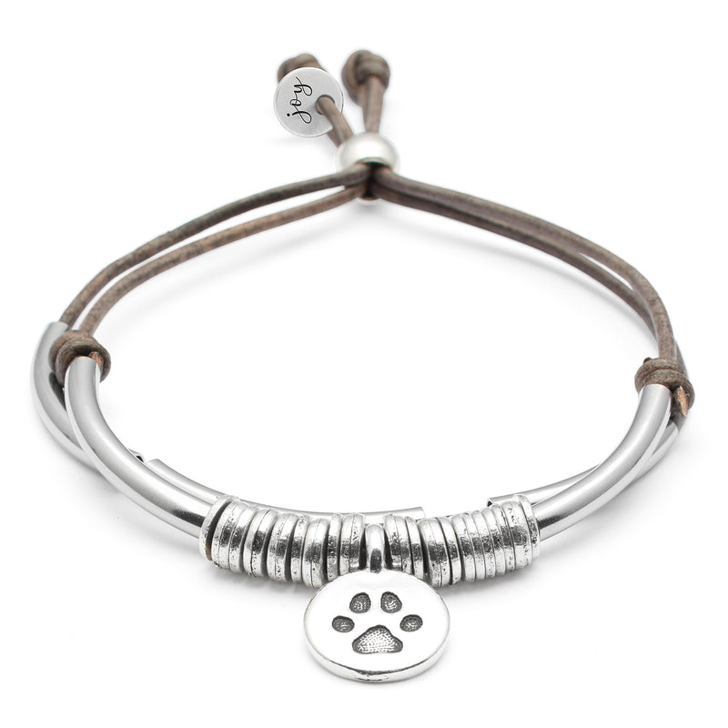 Calm Bracelet with Round Paw Charm