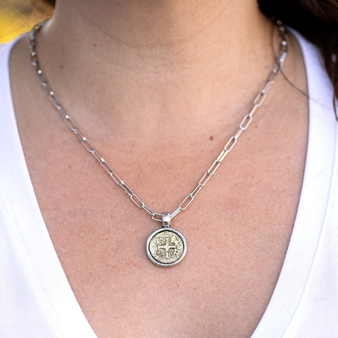 Daily Luxe Silver Necklace with Gold Cross Pendant
