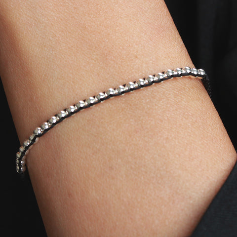 Denver Adjustable Sterling Silver Bracelet