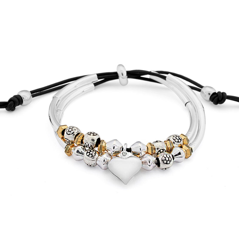 Devotion Bracelet with Silver Heart Charm
