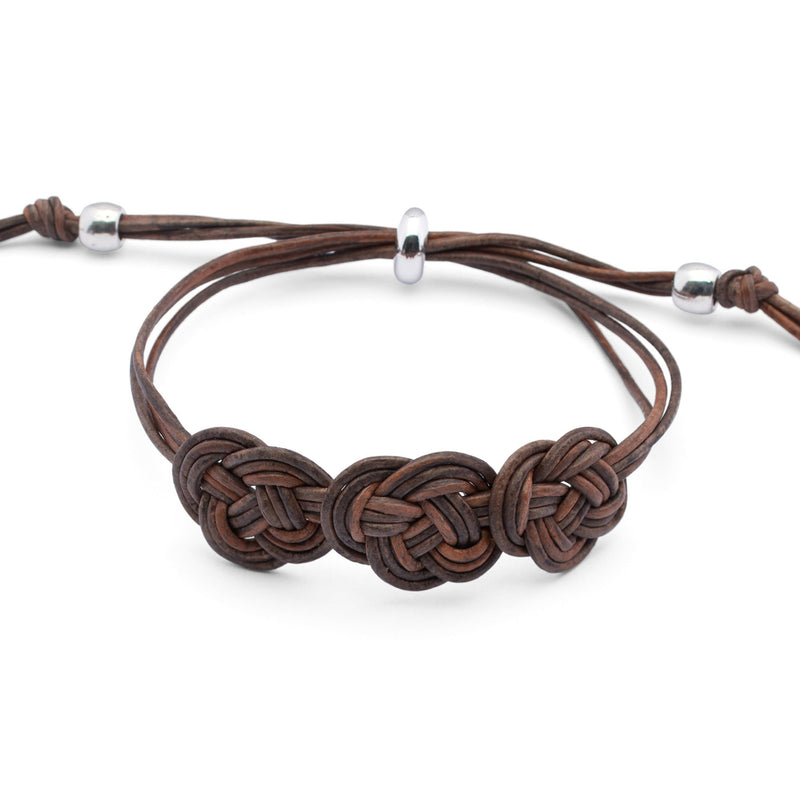 Doreen Adjustable Braided Leather Bracelet