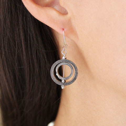 Double Circle Lizzy James Earrings