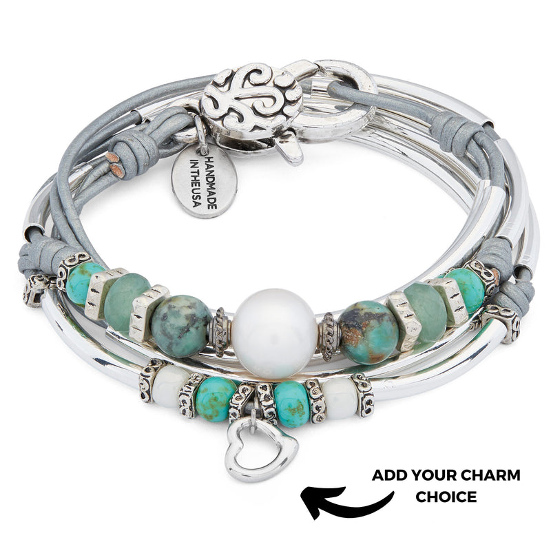 Duchess with Turquoise and Freshwater Pearl Add Your Charm choice