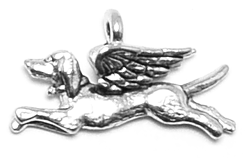 Angel Dog Charm