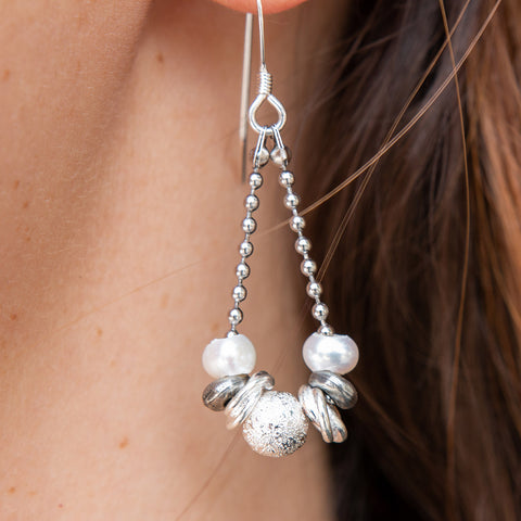 Gabrielle Pearl Teardrop Earrings