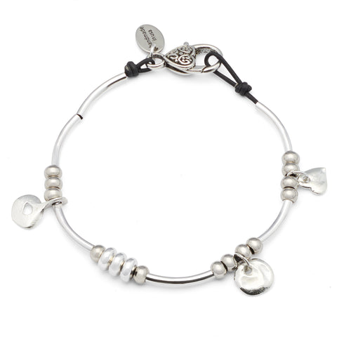 Gigi Anklet in natural black leather, comes as shown