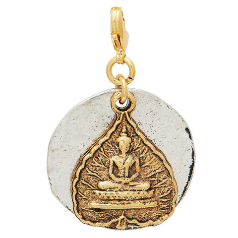 Golden Buddha Leaf Pendant