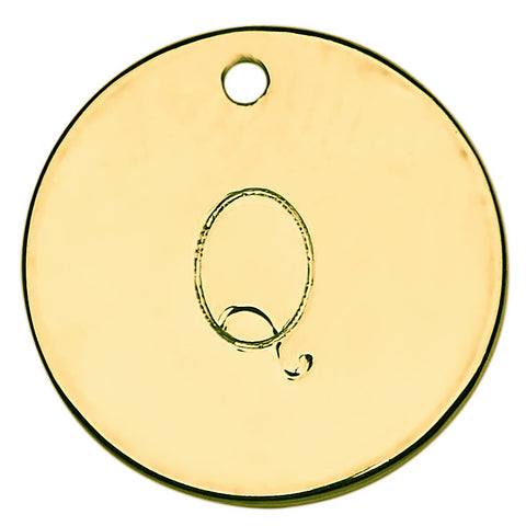 Gold Stamped Initial Q