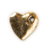 hammered Heart charm in gold tone for lizzyjames charm bracelets