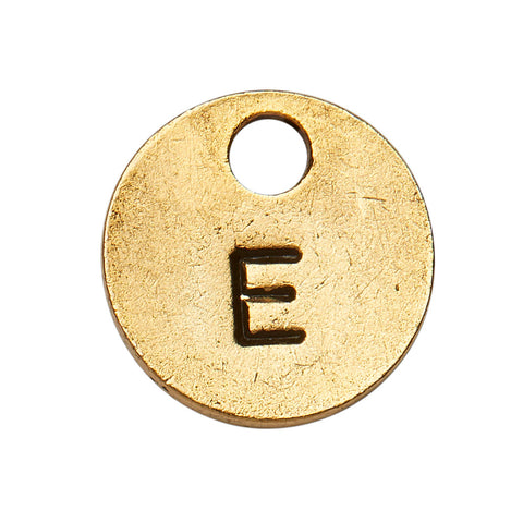 Goldsmith Gold Stamp Circle Initial E