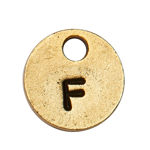 Goldsmith Gold Stamp Circle Initial F