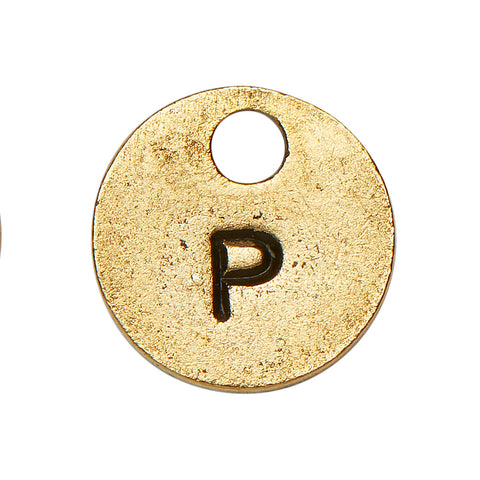 Goldsmith Gold Stamp Circle Initial P
