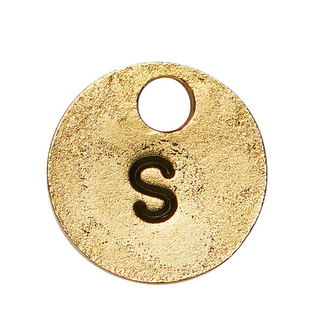 Goldsmith Gold Stamp Circle Initial S