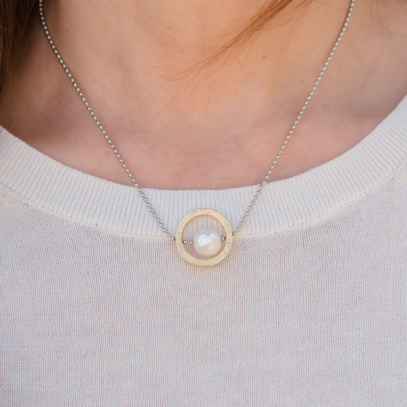 Halo Choker and Necklace with Freshwater Pearl