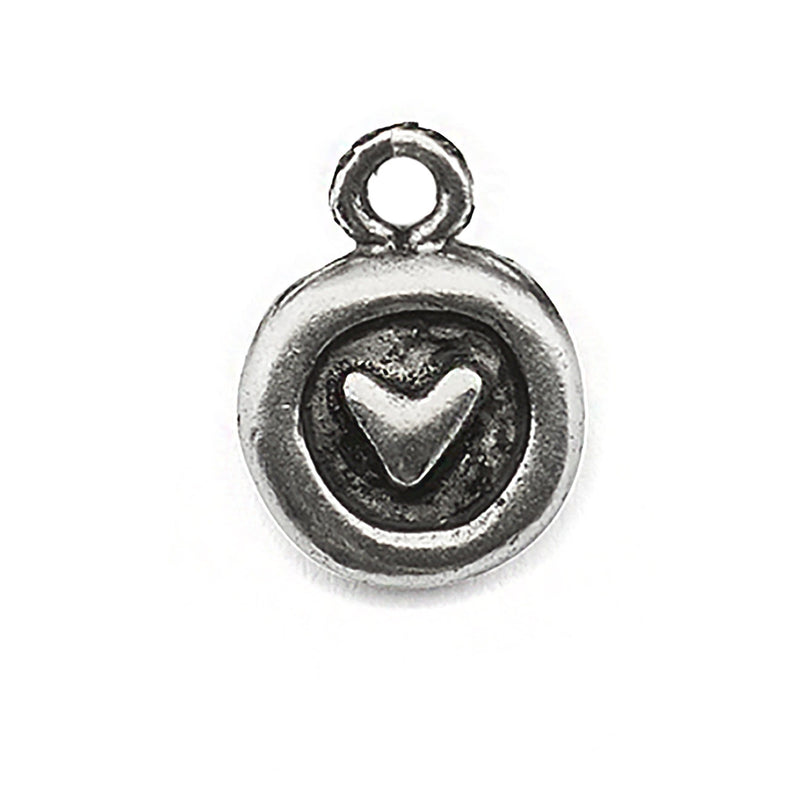 Heart in Circle Charm