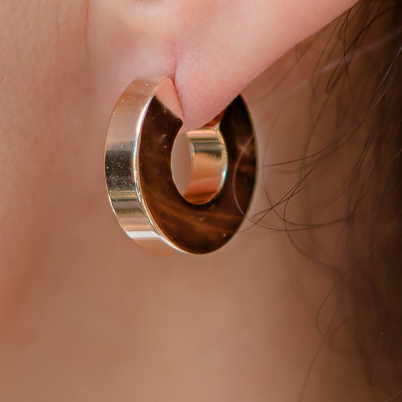 Hugs Chunky Gold Hoop Earrings