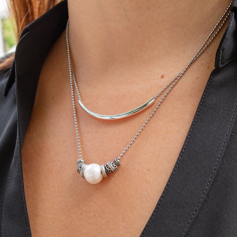 Jasmine Layered Pearl Necklace