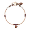 Jolie Anklet in Rose Gold plate with Heart Charm