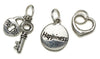 Happiness Silver Trio Charm Set