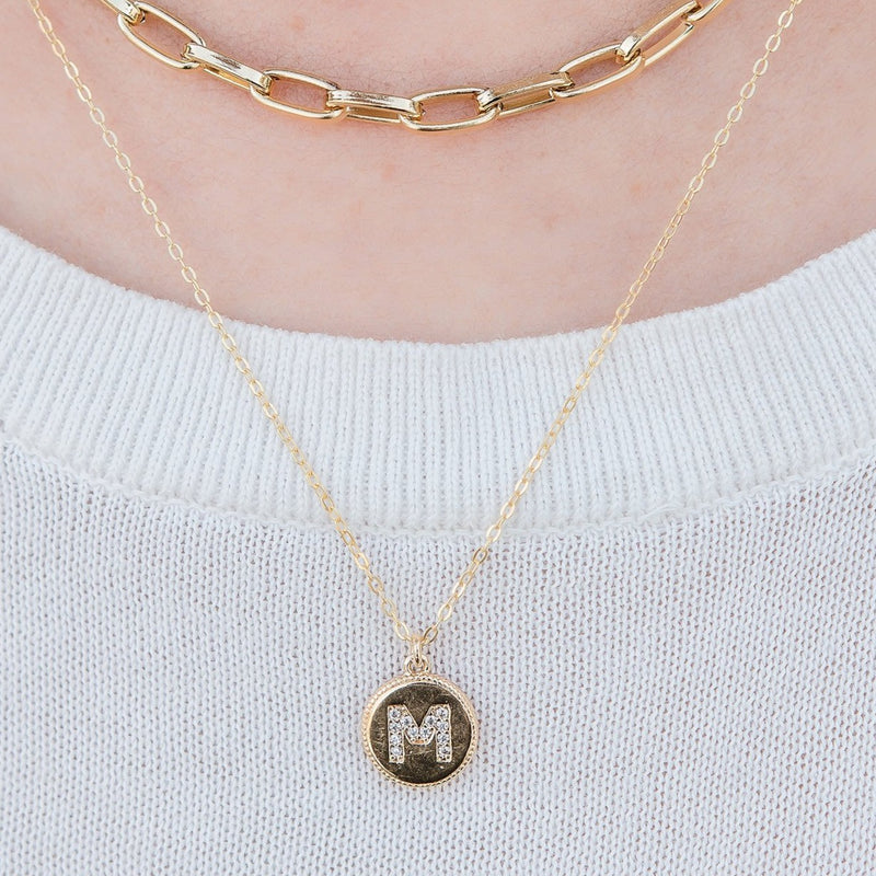 CZ (Cubic Zirconia) Initial Necklace