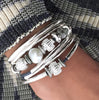 Kristy 2 strand wrap bracelet in cotton cord