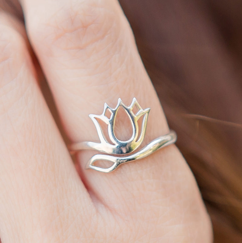 Lotus Sterling Silver Ring - Limited Edition