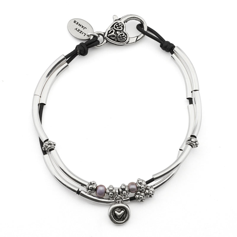 Lucy Anklet with Heart in Circle Charm