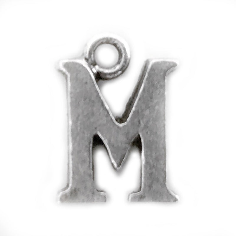 Silver Initial M Charm