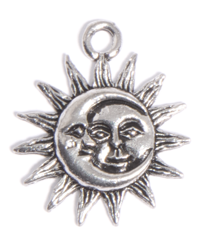 Moon and Sun charm for Lizzy James leather wrap charm bracelets