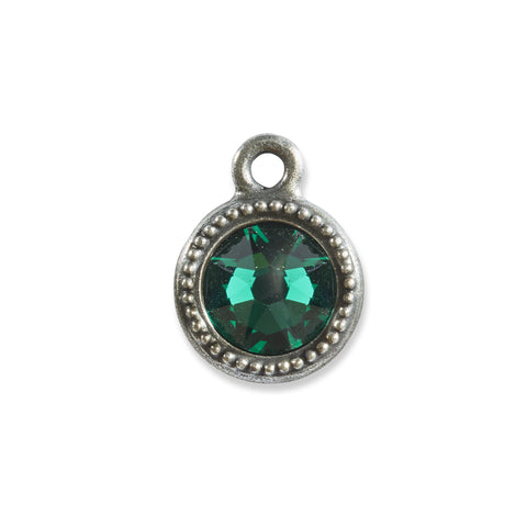 May Birthstone Green Swarovski Crystal Charm