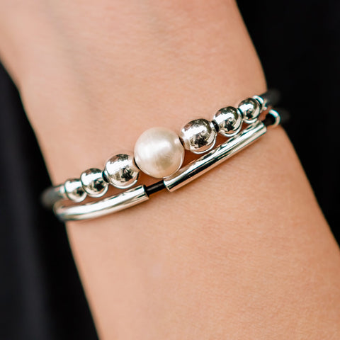 Maya Adjustable Bracelet with Freshwater Pearl