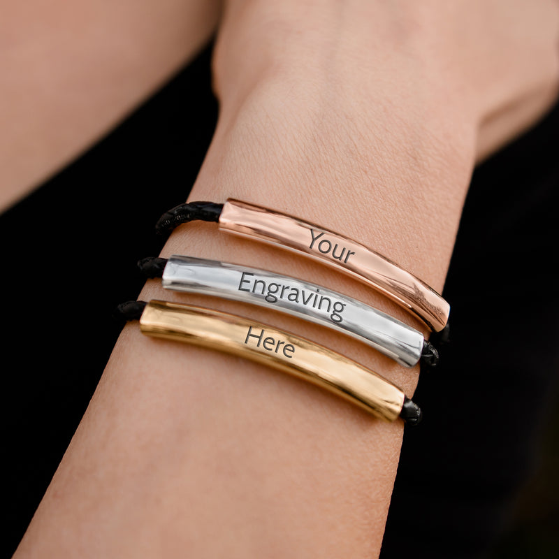 Mingle Engravable Bracelet - Tricolor Gold Silver Rose Gold