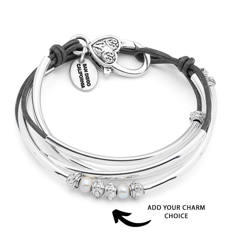 Mini Charmer with Pearls - Add Your Charm Choice