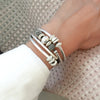 Mini Ginger silver leather wrap bracelet