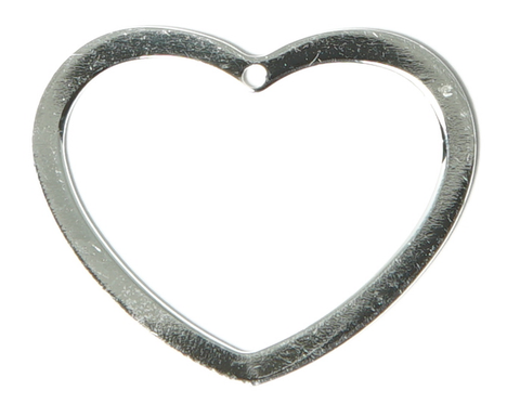 Sterling Silver Outline Heart