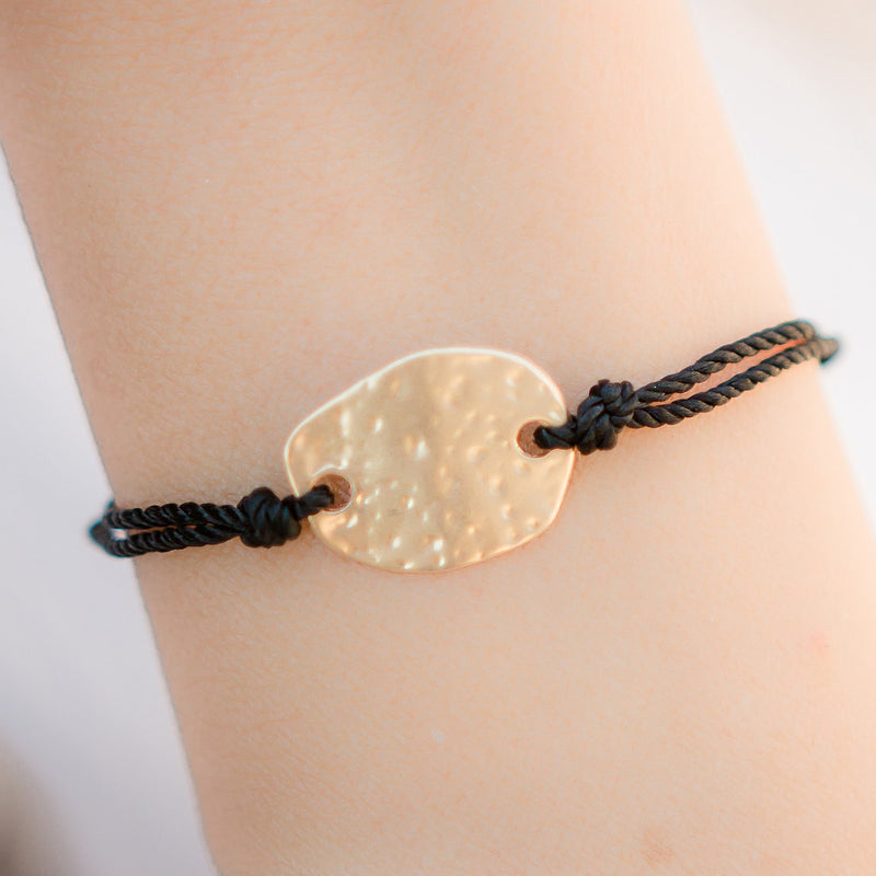 Popcorn Matte Gold Adjustable Bracelet