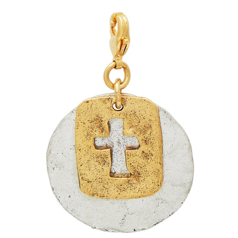 Rectangle Gold Cross Pendant