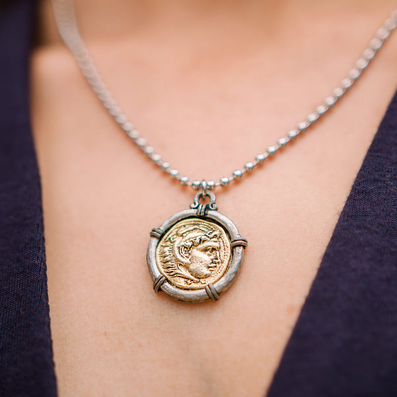 Roman Coin Adjustable Necklace