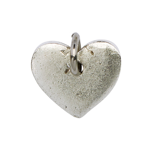 Rounded Heart Charm in silver