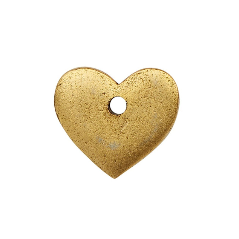 Gold Rounded Heart Charm