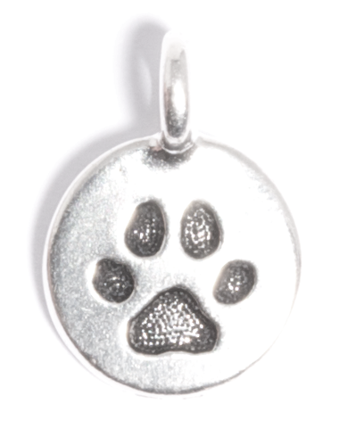 Round Paw charm for Lizzy James leather wrap charm bracelets