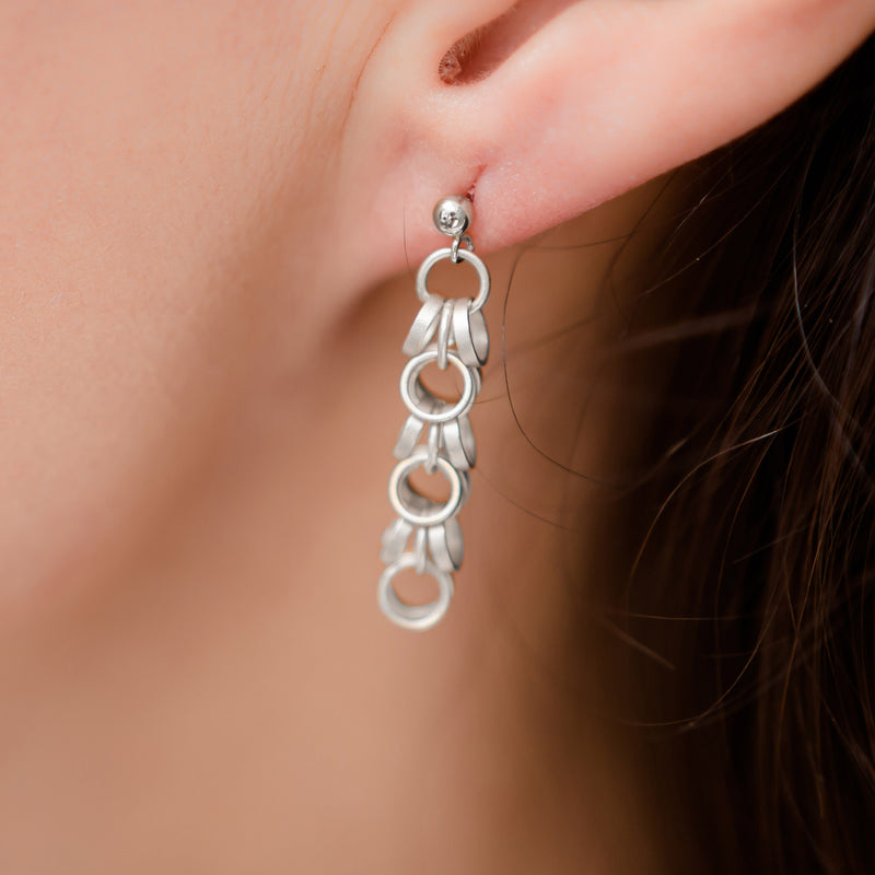 San Francisco Silver Chain Earrings