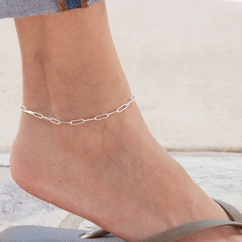 Strauss Sterling Silver Anklet