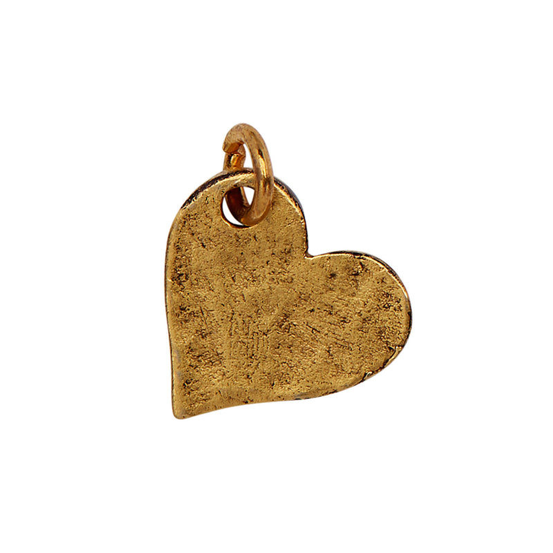 Textured Gold Heart Charm