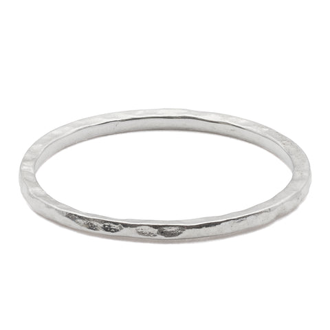 Thin Hammered Band Sterling Silver Ring (orig. $58)